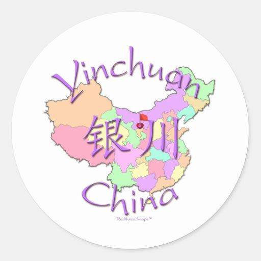 Yinchuan China Etiqueta Redonda