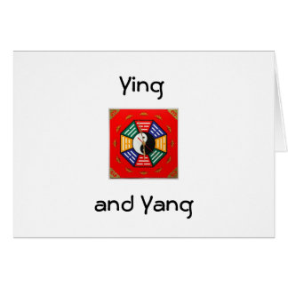 YING AND YANG ALL OCCASION GREETING CARD