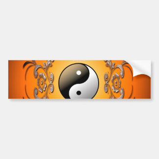 Ying and yang car bumper sticker