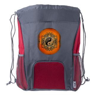 Ying and yang drawstring backpack