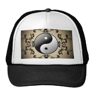 Ying and yang trucker hat