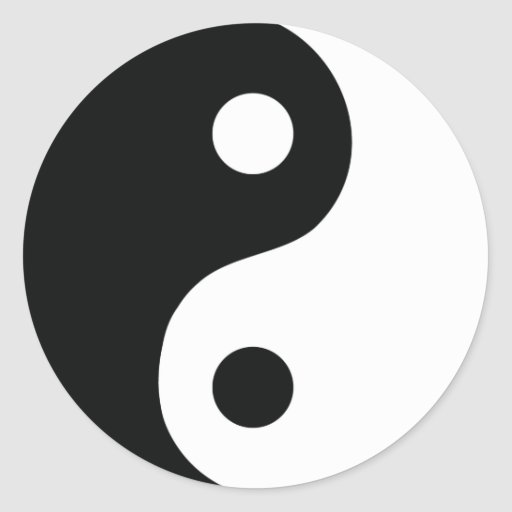 ying and yang icon sticker