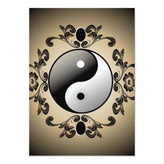"""Ying and yang 5"""" x 7"""" invitation card"""