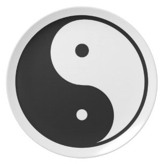 Ying and Yang Melamine Plate