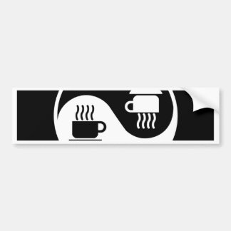 Ying and Yang of Coffee Car Bumper Sticker