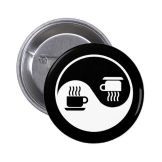 Ying and Yang of Coffee Pinback Button