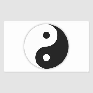 Ying and Yang Rectangular Sticker