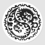 Ying and Yang Round Stickers