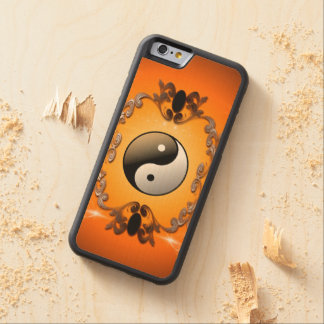 Ying and yang, two complementary principles of Chi Carved Maple iPhone 6 Bumper Case