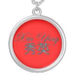 YING de XIU Nombre-Calificado collar del colgante