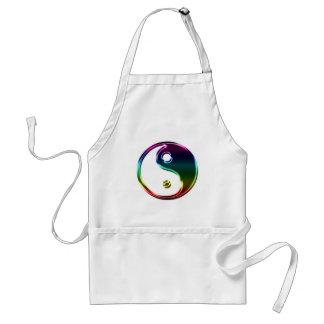Ying metálico colorido Yang Delantales