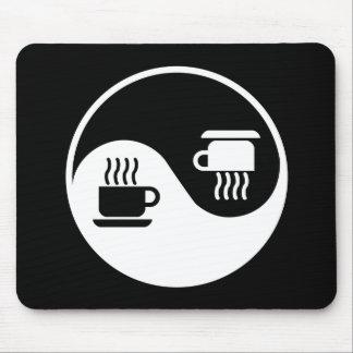 Ying y Yang del café Tapetes De Ratón
