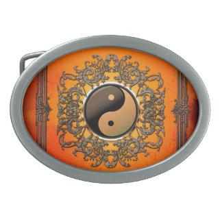 Ying y yang hebillas cinturón ovales