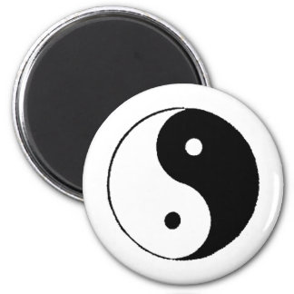 Ying-Yang 2 Inch Round Magnet