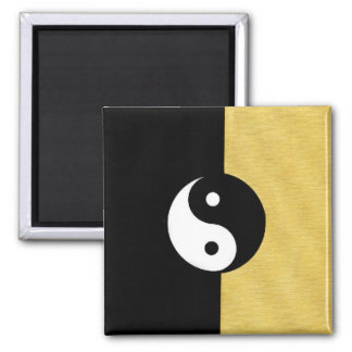 Ying Yang 2 Inch Square Magnet
