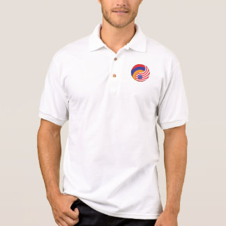 Ying Yang Armenia America Polo Shirt