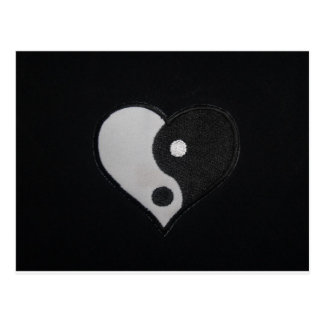 Ying Yang (B&W) Heart Products Postcard