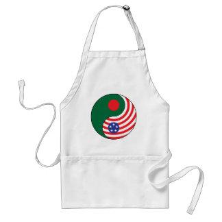 Ying Yang Bangladesh America Adult Apron