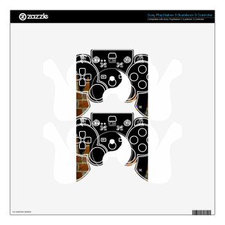 YING YANG BRICK BACKGROUND PRODUCTS PS3 CONTROLLER DECALS