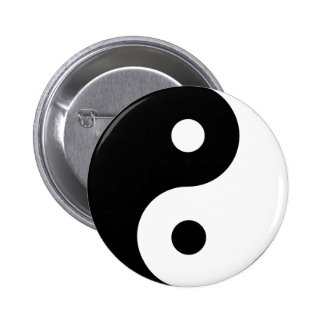 Ying Yang 2 Inch Round Button