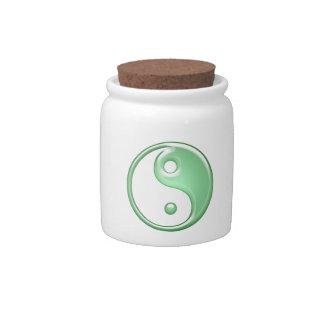 Ying Yang Candy Jars