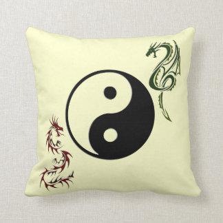 Ying Yang Chinese Dragon Pillow