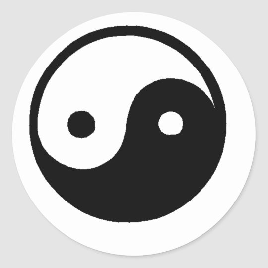 ying_yang classic round sticker