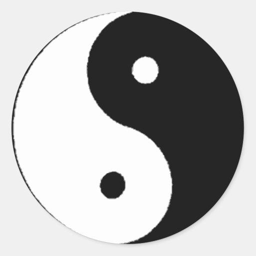 Ying-Yang Classic Round Sticker