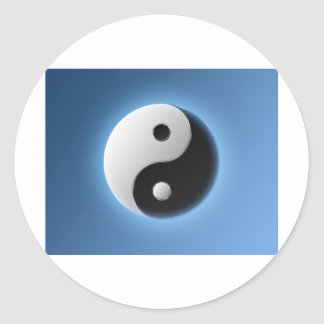 Ying Yang Classic Round Sticker