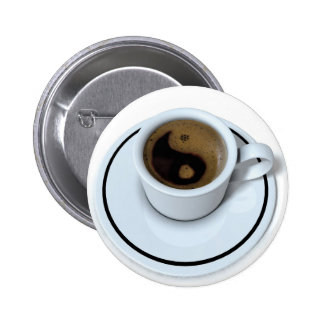 Ying Yang coffee 2 Inch Round Button