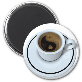 Ying Yang coffee 2 Inch Round Magnet
