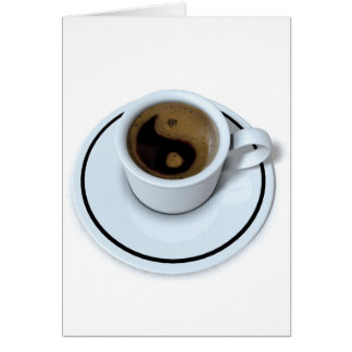 Ying Yang coffee Greeting Card