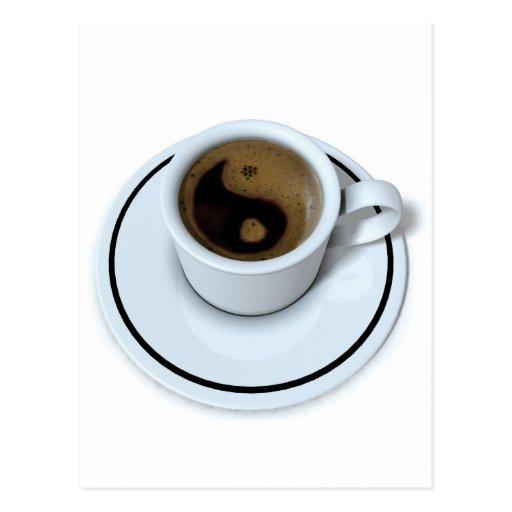 Coffee Maker Yang : Ying Yang coffee Postcard Zazzle