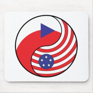 Ying Yang Czech Republic America Mouse Pad