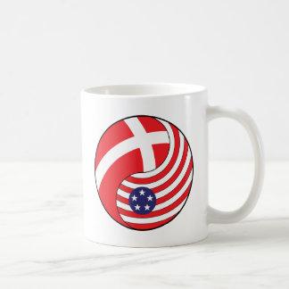 Ying Yang Denmark America Coffee Mug