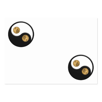 Ying-Yang Dollar Large Business Cards (Pack Of 100)