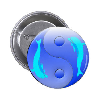 Ying-Yang Dolphin Pins