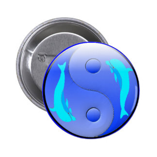 Ying-Yang Dolphin Pinback Buttons