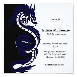 Dragon Theme Birthday Invitations Zazzle