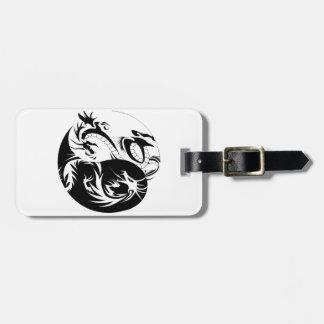 Ying Yang dragon Travel Bag Tags