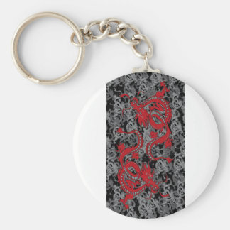 Ying Yang Dragon oin Red - Chinese New Year Keychain