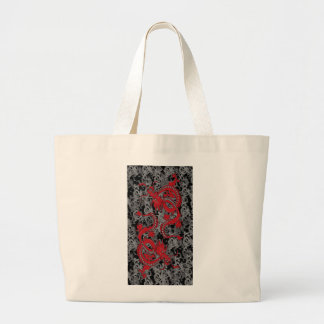 Ying Yang Dragon oin Red - Chinese New Year Large Tote Bag