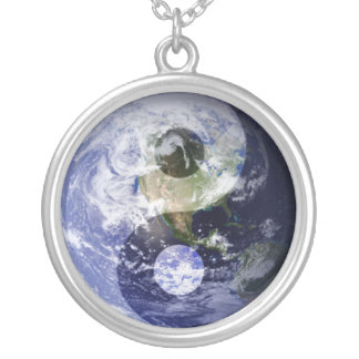 Ying & Yang Earth Round Pendant Necklace