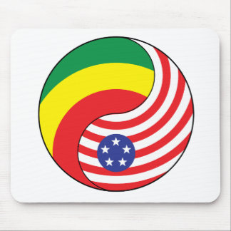 Ying Yang Ethiopia America Mouse Pad