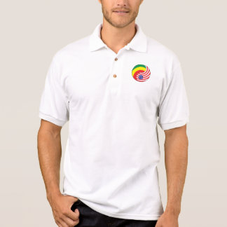 Ying Yang Ethiopia America Polo Shirt