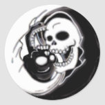 Ying Yang Grim Reaper Sticker