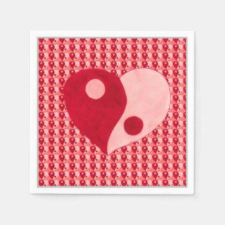 Ying Yang Heart (Red/Pink) Napkin