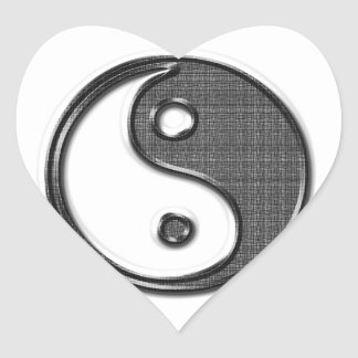 Ying Yang Heart Sticker