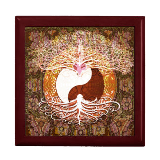 Ying Yang Heart Tree of Life Jewelry Box