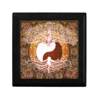 Ying Yang Heart Tree of Life Keepsake Box